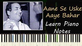 Aane Se Uske Aaye Bahar - Piano Tutorial ( Jeene Ki Raah