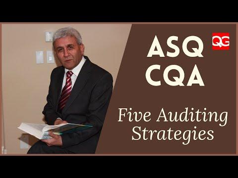 ASQ CQA - 2A6 Auditing Strategies - YouTube
