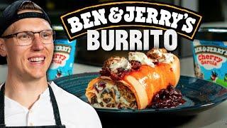 Ben & Jerry's Ice Cream Burrito Recipe | Mythical Kitchen