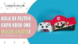 Aula de feltro - Capa para vídeo game super Mario