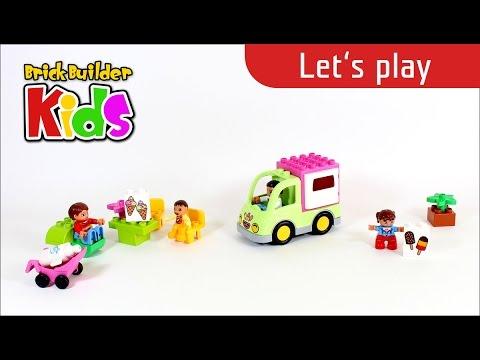 Vidéo LEGO Duplo 10586 : La camionnette de glaces
