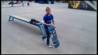 Скейт. 9 лет 2016. Скейтбординг. Трюки. Skate. Спорт. Sport. Скейт парк. Советск. Footwork.