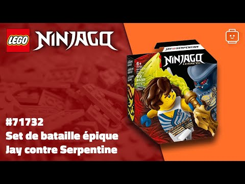 Vidéo LEGO Ninjago 71732 : Set de bataille épique - Jay contre Serpentine
