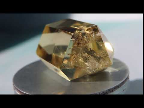 Double Terminated Citrine 34.3g 53.4mm x 27.9mm