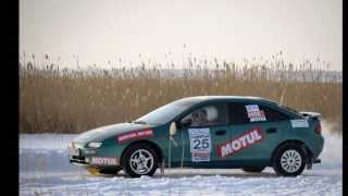 preview picture of video 'The 1st stage of The Winter Rally Sprint Samuryk 2014'