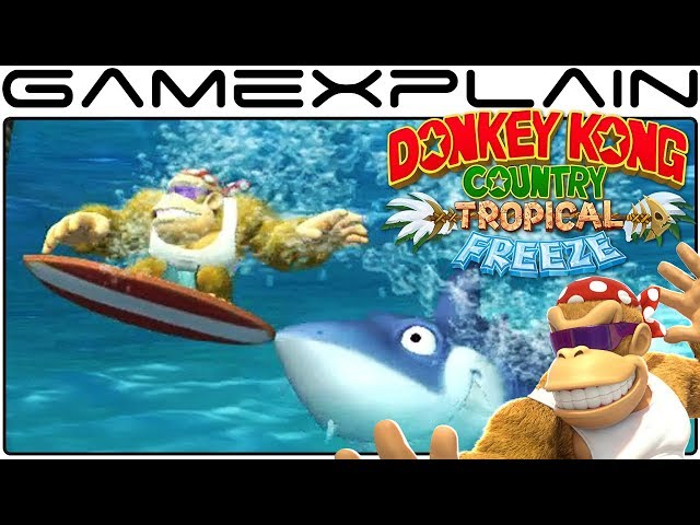 Funky Goes Surfing in DKC: Tropical Freeze DIRECT FEED Gameplay (Nintendo Switch - 1080p60fps)