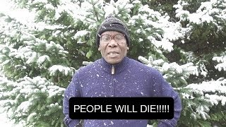 AFRICAN DAD'S REACTION TO SNOW FOR THE FIRST TIME!!!! - WARNING: VERY FUNNY!!!!