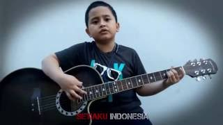 Six Years Old Boy Playing Guitar (Deep Purple - Soldier Of Fortune)
