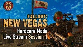 Fallout New Vegas - PC Modded Live Stream - Hardcore Mode - Session 1