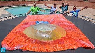 Giant 6 Foot Orbeez Water Balloon Blob Super Wubble Bubble vs My Backyard!