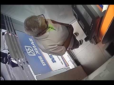 crime again  sick grandfather at ATM  caught on cctv in indonesia