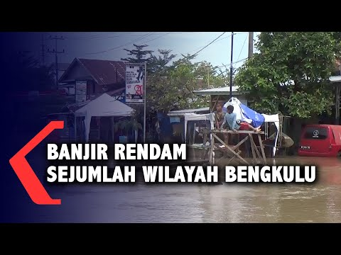 banjir rendam sejumlah wilayah di kota bengkulu