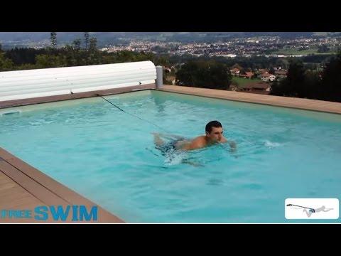 Ceinture de nage piscine : FREE-SWIM - Nage à contre courant