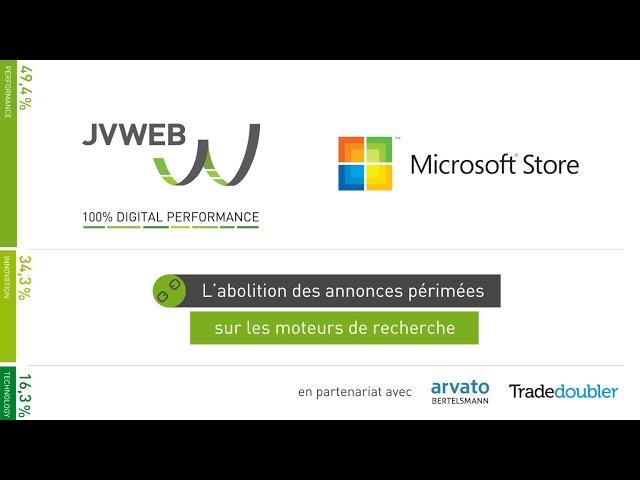 JVWEB sacré Roi du Search 2015avec Microsoft Store