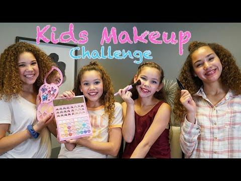 KIDS Makeup Challenge (Haschak Sisters)