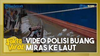 Viral Video Polisi di Mimika Buang Botol Bekas Alkohol di Laut, Kapolres Minta Maaf