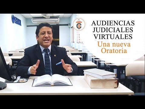 AUDIENCIAS JUDICIALES VIRTUALES: Una nueva Oratoria - TC 180