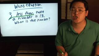 Math Lessons : What Is a Word Equation?