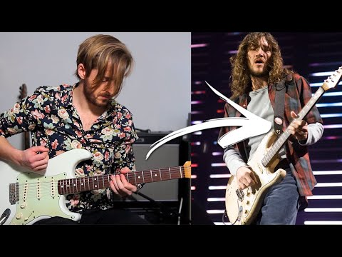 RED HOT CHILI PEPPERS - CAN'T STOP GUITAR TUTORIAL - ALL SECTIONS + SOLO