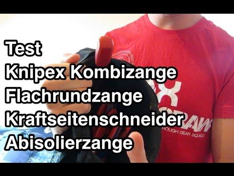 Test Knipex Zangen Test | Kombizange | Flachrundzange | Kraftseitenschneider | Abisolierzange