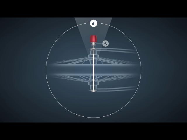 Видео Гайка-секретка Abus NutFix 3/8 blue