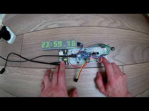 Arduino LED Matrix Clock - смотреть онлайн на Hah Life