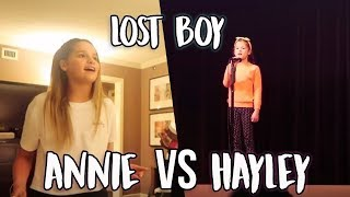 ANNIE LEBLANC VS HAYLEY LEBLANC SINGING LOST BOY [NO AUTOTUNE]