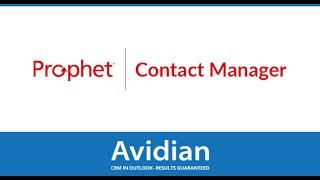 Prophet CRM video