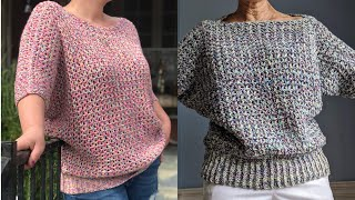 Batwing Sweater - Adult - Updated Crochet Tutorial RIGHT HANDED