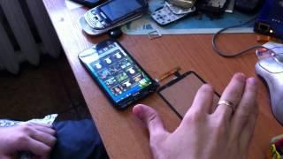 HTC One X (Проверка сенсорного стекла для замены навесу)