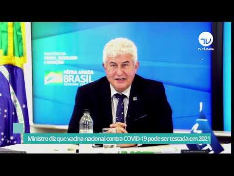 Ministro diz que vacina nacional contra Covid pode ser testada esse ano - 16/06/21