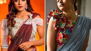 New Assymetrical Sleeve Saree Blouse Designs That Are Perfect For Partying // Latest Blouse Designs