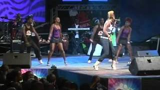 Wahu performing Running Low at Safaricom KENYA LIVE Meru Concert