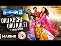 Kalakalappu 2 | Oru Kuchi Oru Kulfi Song Making Video | Hiphop Tamizha | Jiiva, Jai, Shiva