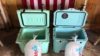 Yeti Roadie 20 VS Walmart Ozark Trail Cooler Review and Ice Hold Test