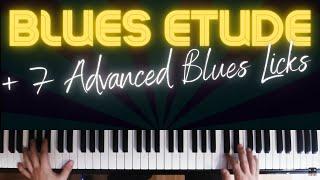 Blues Improvisation Etude │ Blues Piano Lesson #8