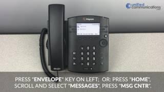 Polycom VVX 300 & 400 Series Phone - How to Check Voicemail