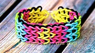 Rainbow Loom-Triple Single bracelet-designed bracelet
