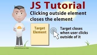 JavaScript Click Outside Close Menu Box Tutorial