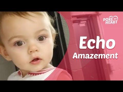 Baby Discoverd her Echo