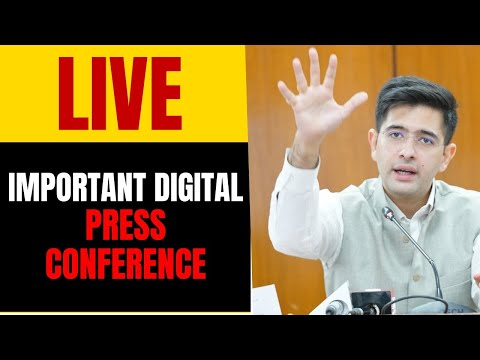 AAP Leader Shri Raghav Chadha addressing an important press conference