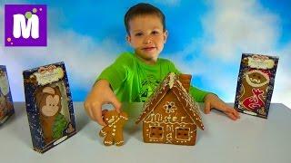 Делаем пряничный домик Джинджерленд украшаем белым шоколадом