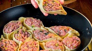 Ленивые вареники с мясом - быстрый, при этом безумно вкусный ужин! | Appetitno.TV