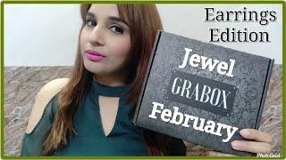 Jewel Grabox Earrings Edition February 2020 | Most Affordable Subscription| Unboxing & Try on Review
