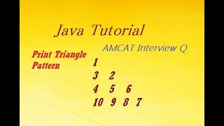 AMCAT Interview Question - Print Triangle Pattern in Java Programming