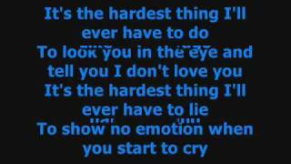 The Hardest Thing - 98 Degrees Lyrics