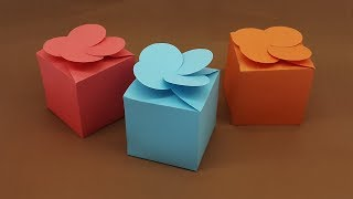 How To Make A Paper Gift Box Easy With Template | DIY Paper Box