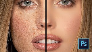 Face Smooth In Photoshop | Easy Frequency Separation Tutorial