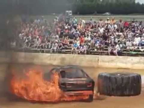 Fire Figther Fail At Clarke County Fair VA Demolition Derby 2014