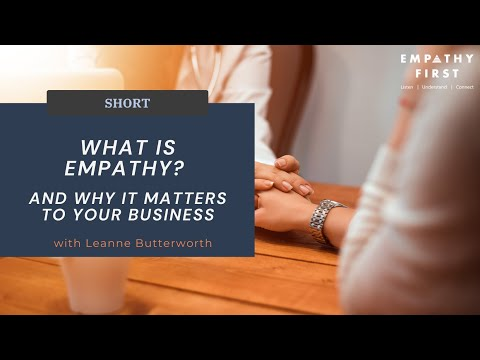 What is empathy training? - YouTube